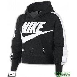 Crop Negra Chica Capucha Air Sudadera Nike S4qBF