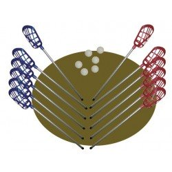 set LACROSSE softee (12 palos lacrosse + 6 pelotas)