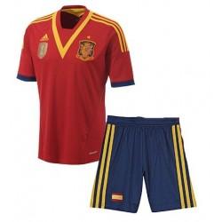Camiseta ESPAÑA COPA CONFEDERACIONES 2013 ROJA CONJUNTO NIÑO oficial adidas
