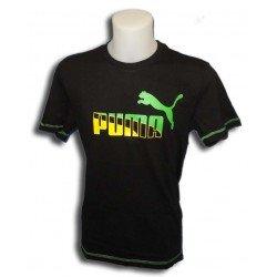 camiseta Puma deporte hombre SPORTS CASUAL GRAPHIC TEE NEGRO