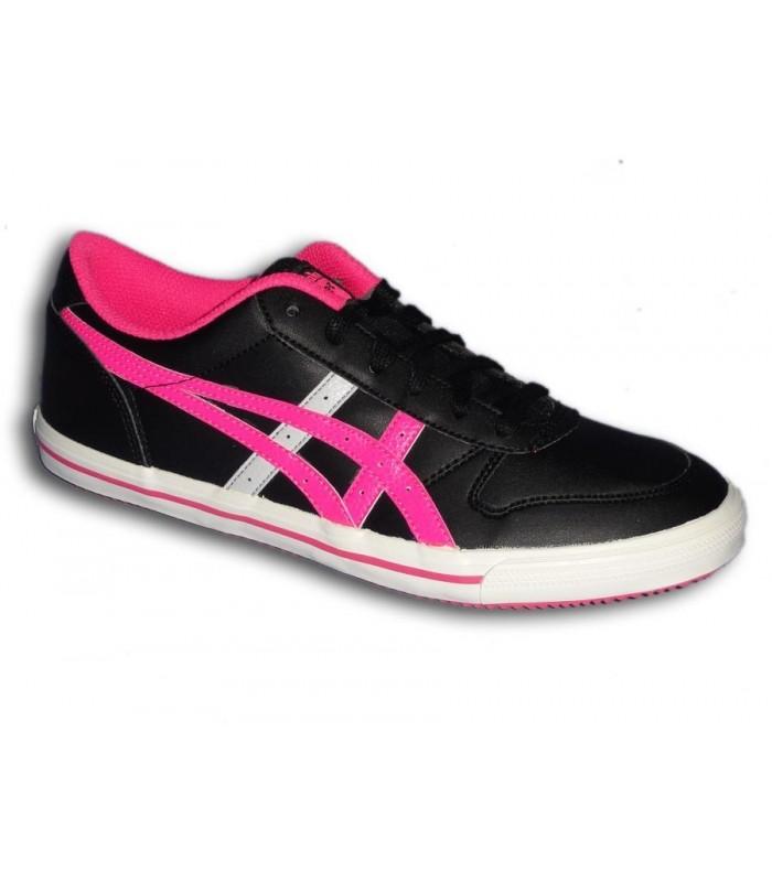 Necesario Valle Correspondiente  Asics Zapatilla AARON GS chica NEGRO-FUCSIA mujer sportwear moda  personalizar calzado
