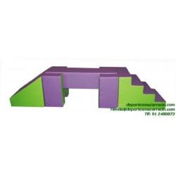 SET FIGURAS 60 escalera + rampa + rectangulo softee