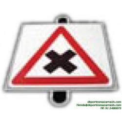señal de trafico PELIGRO CRUCE educación vial escuela