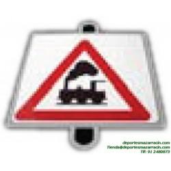 señal de trafico PELIGRO PASO A NIVEL SIN BARRERAS vial