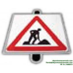 señal de trafico PELIGRO OBRAS educación vial escuela