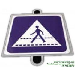 señal de trafico INDICACION PASO DE PEATONES educación vial escuela