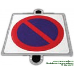señal de trafico PROHIBICIÓN ESTACIONAMIENTO educación vial escuela