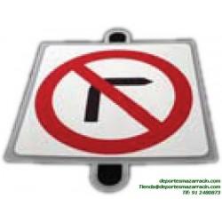 señal de trafico PROHIBICIÓN GIRO DERECHA educación vial escuela