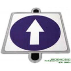 señal de trafico OBLIGACIÓN SENTIDO educación vial escuela