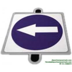 señal de trafico OBLIGACIÓN DERECHA educación vial escuela