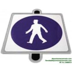 señal de trafico OBLIGACIÓN PEATONES educación vial escuela