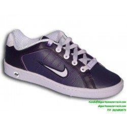 Nike COURT TRADITION MORADO Zapatilla clasica chica