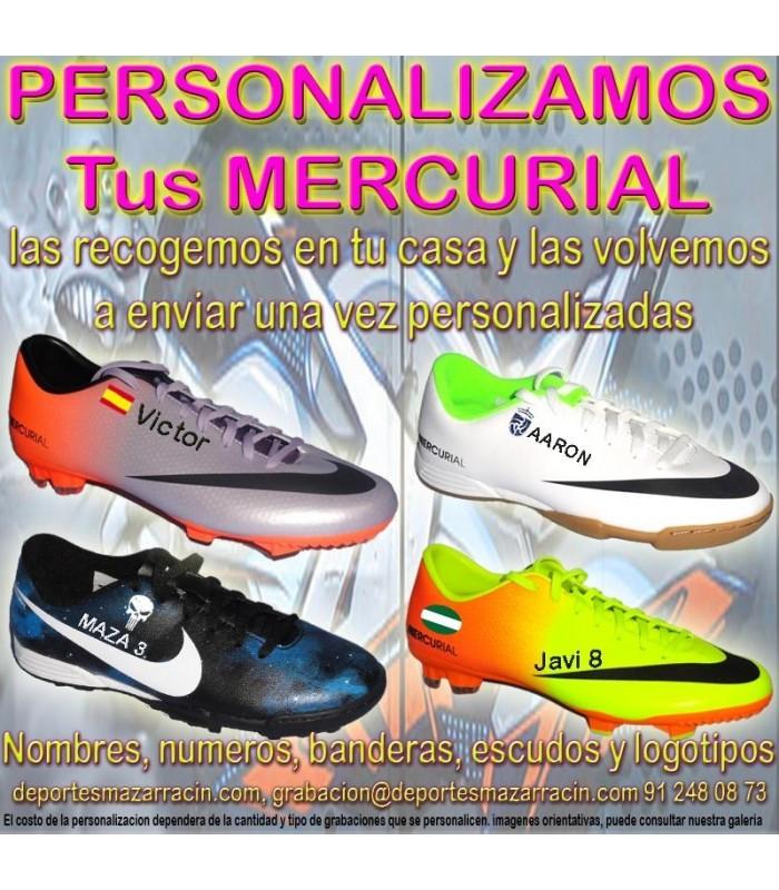 b78435bf30 PERSONALIZAR NIKE MERCURIAL grabar botas futbol estampar nombre ...