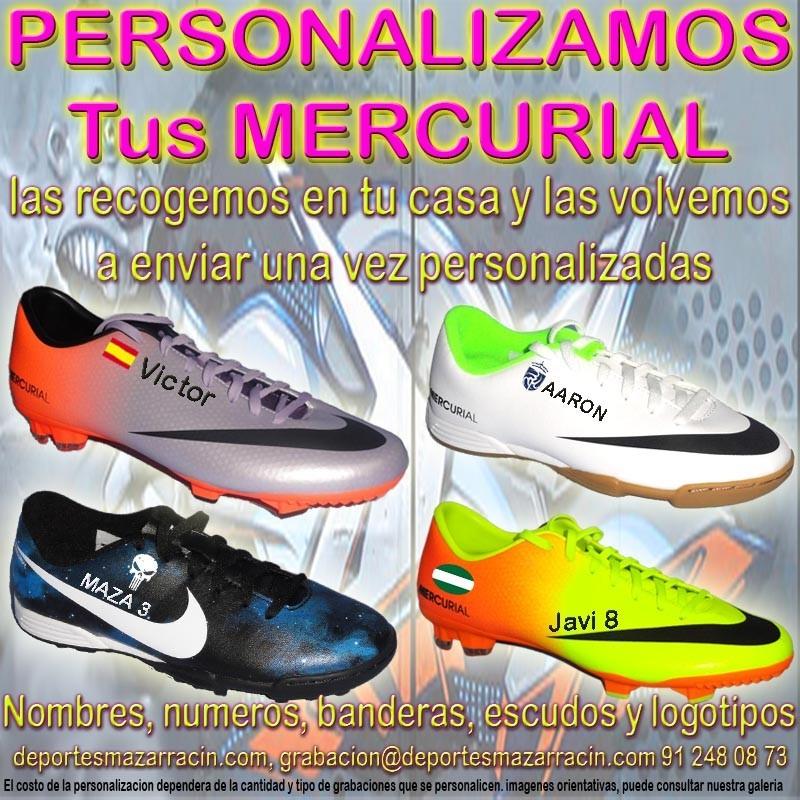 d208d85f0068b PERSONALIZAR NIKE MERCURIAL grabar botas futbol estampar nombre numero  bandera escudo