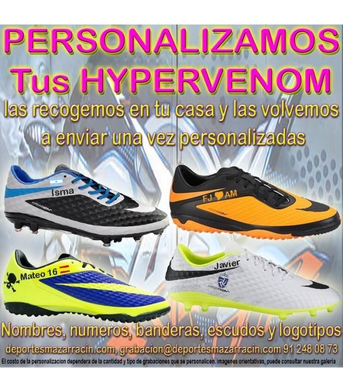 Ennegrecer Transparentemente oler  PERSONALIZAR NIKE HYPERVENOM grabar botas futbol estampar nombre numero  bandera escudo