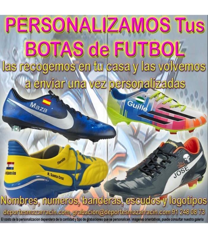 Comerciante actualizar Médula ósea  PERSONALIZAR BOTAS DE FUTBOL grabar botas futbol estampar nombre numero  bandera escudo