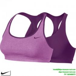 Nike TOP REVERSIBLE FITNESS BRA MUJER morado