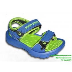 Sandalia niño john smith chancla PUCHOTRES azul