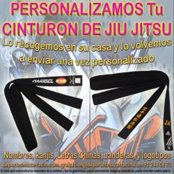 PERSONALIZAR CINTURÓN de JIU JITSU (Incluida la Recogida)