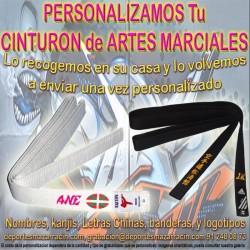 PERSONALIZAR CINTURÓN de ARTES MARCIALES Cualquier Disciplina (Incluida la Recogida)