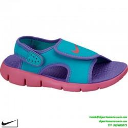 Sandalia Nike SUNRAY 4 PS niña morado talla 28-35