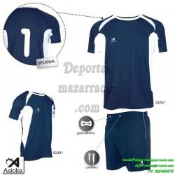 Asioka CONJUNTO CAMISETA PANTALON 69/12 FUTBOL deporte color azul marino equipacion talla
