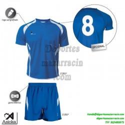Asioka CONJUNTO CAMISETA PANTALON 80/09 FUTBOL deporte color AZUL equipacion talla