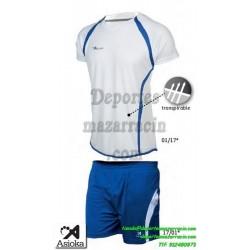 Asioka CONJUNTO CAMISETA PANTALON 80/09 FUTBOL deporte color BLANCO equipacion talla