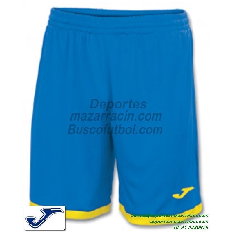 b629be89b JOMA PANTALON CORTO TOLEDO Futbol color AZUL AMARILLO equipacion short  SPORT talla hombre niño 100006.709