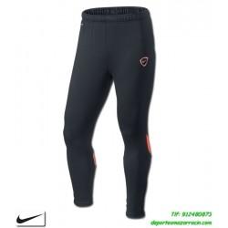 Nike pantalon academy tech knit Negro-Naranja poiliester ajustado drifit gimnasio fitness deporte 544904-015