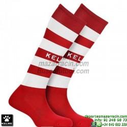 KELME GOL MEDIAS Futbol RAYAS color ROJO BLANCO equipacion deporte calcetin talla SOCK hombre niño 93114-129