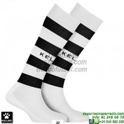 KELME GOL MEDIAS Futbol RAYAS color BLANCO NEGRO equipacion deporte calcetin talla SOCK hombre niño 93114-61