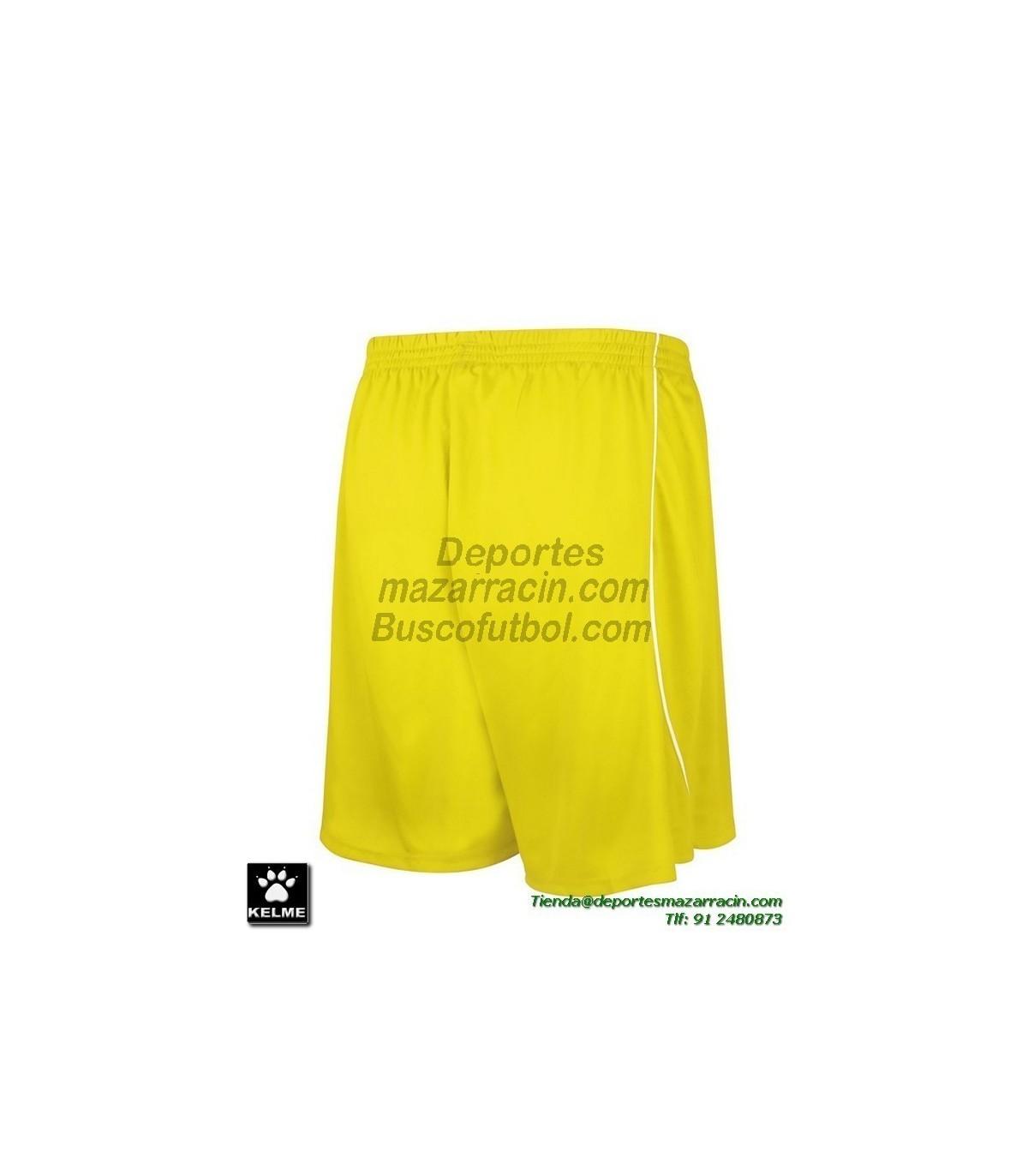 184c6b7e58 KELME PANTALON CORTO MUNDIAL Futbol color AMARILLO equipacion short SPORT  ...
