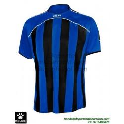 KELME CAMISETA LIGA RAYAS color AZUL NEGRO Futbol Manga Corta talla equipacion hombre niño 78326-190