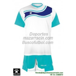 KELME CONJUNTO SURINAME SET color BLANCO AZUL CELESTE Futbol camiseta pantalon talla equipacion hombre niño 78417-62