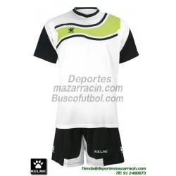 KELME CONJUNTO SURINAME SET color BLANCO NEGRO Futbol camiseta pantalon talla equipacion hombre niño 78417-61