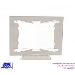 Placa de Homenaje cristal 97027 montaje chapa diferentes tamaños premio pallart grabado laser personalizado