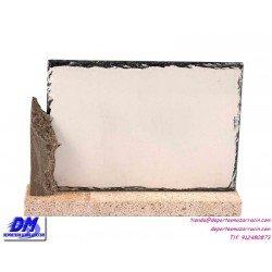 Placa de Homenaje cristal 97033 montaje chapa diferentes tamaños premio pallart grabado laser personalizado