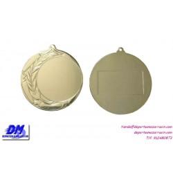 Medalla deportiva 70 diametro 29908 oro plata bronce premio pallart grabado laser personalizada
