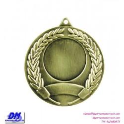 Medalla deportiva 50 diametro 29967 oro plata bronce premio pallart grabado laser personalizada