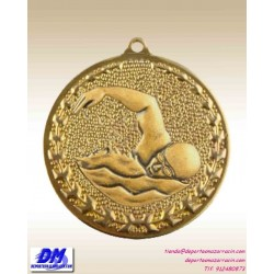 Medalla NATACION 29975 diametro 50mm oro plata bronce premio pallart grabado laser personalizada