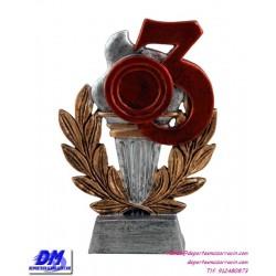 Trofeo copa participacion 4300/3 tercero 3 bronce economico premio deporte pallart grabado chapa personalizado