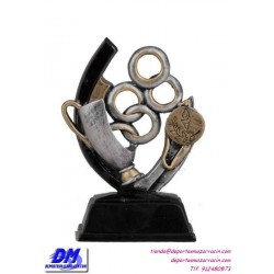Trofeo copa participacion 4307-91 antorcha economico premio deporte pallart grabado chapa personalizado