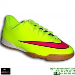 Nike MERCURIAL VORTEX 2 NIÑO Cristiano Ronaldo AMARILLO 2015 zapatilla futbol sala JUNIOR IC personalizar 651643-760