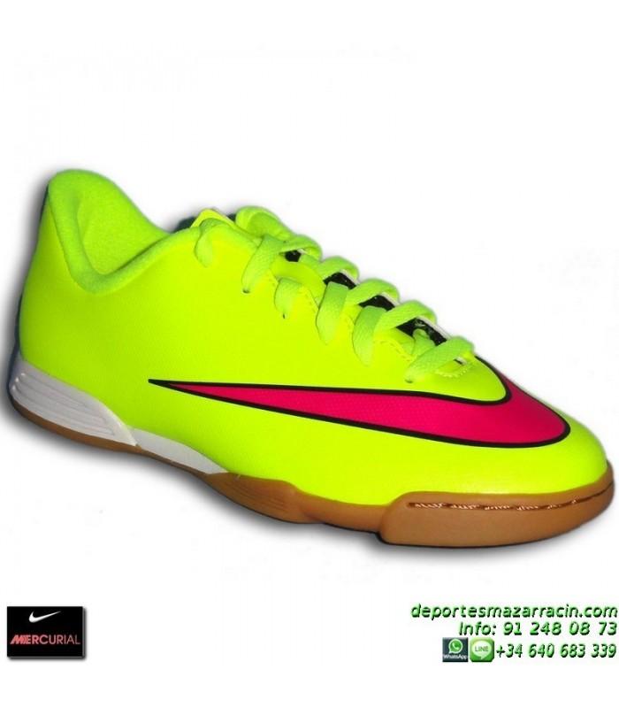 sports shoes 6d45a d108b Nike MERCURIAL VORTEX 2 NIÑO Cristiano Ronaldo AMARILLO 2015 zapatilla  futbol sala JUNIOR IC personalizar 651643-760