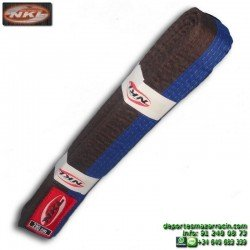 CINTURON AZUL-MARRON karate-judo adulto 280cm