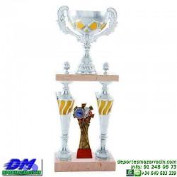 Trofeo copa columnas 5098 diferentes alturas premio deporte pallart grabado chapa grabada