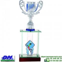 Trofeo copa columnas 5099 diferentes alturas premio deporte pallart grabado chapa grabada