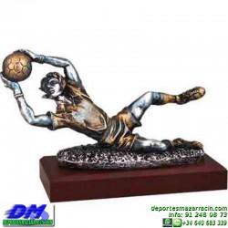 Trofeo Futbol 5436 portero arquero futbolista copa premio pallart chapa grabada diferentes tamaños alturas