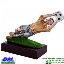 Trofeo Futbol 5437 portero zamora arquero jugador copa premio pallart chapa grabada diferentes tamaños alturas